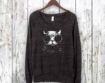 Cat Shirt. Cat Pullover. Raglan Sleeves. Alternative Apparel.