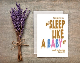 Funny Baby Shower Card/New Baby Greeting Card