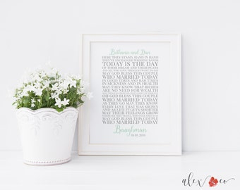 Marriage Blessing Printable. Marriage Prayer. Personalized Wedding Gift. Bridal Shower Gift. Wedding Gifts for Couple. Marriage Gift.