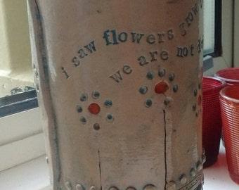 Vase with original poetry