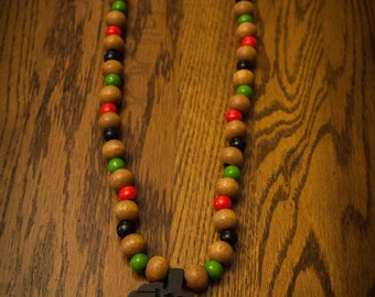 Black Africa on Mix of Brown and RBG Beads