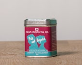 Pride and Prejudice Loose Leaf Tea - Gift for Book Lover - The Literary Tea Collection - Citrus and Roasted Mate Herbal Tea - 50g tin