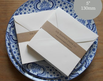 "100 Wedding Envelopes 5x5 Envelopes Bulk Envelopes Buttermilk Cream Envelopes card making greetings cards card making craft 5.1/8"" 130x130mm"