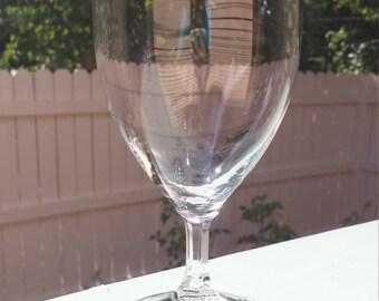 Vintage Silver Rimmed Water Goblets/Wine Glasses (Set of 6)