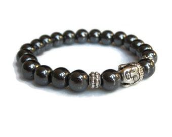 Hematite bracelet,  healing bracelet, protection bracelet, buddha bracelet, beaded bracelet, gemstone bracelets uk