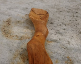 Asymmetrical Hackberry Spoon, Art Spoon, Fabulous Strange Wood Spoon, Beautiful Grain Wood Spoon, Small Unusual Wood Spoon - free shipping