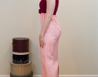 Classic 1960s Empire Waisted Two Toned Dress