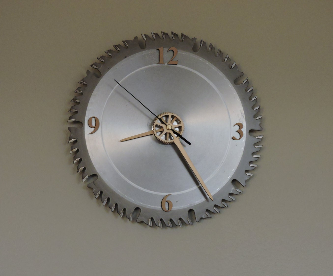 A Cut In Time Saw Blade Wall Clock 2 By Cj7designs On Etsy