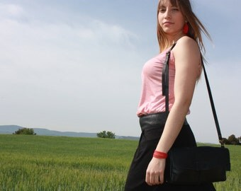 Small leather bag, leather crossbody bag, leather crossbody purse, leather purse, messenger leather bag, flap leather bag, small shoulder