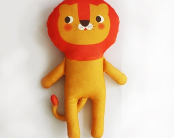 MR. LION organic cotton stuffed animal plushie