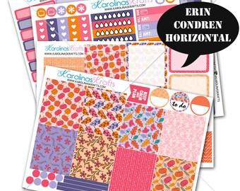 Pink Autumn Stickers, Fall Planner Kit 200+ Autumn Planner Stickers, for Erin Condren Horizontal Planner, October planner #SQ00323-ECH