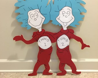 Thing 1 & Thing 2 Wood Design