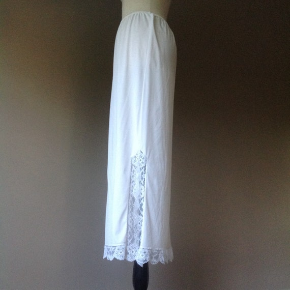m half slip maxi skirt white with lace