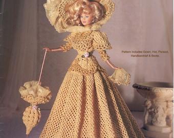 PDF Crochet Barbie Dress, Barbie Gown, Crochet eBook, Pattern, Instant Download, Vintage, English