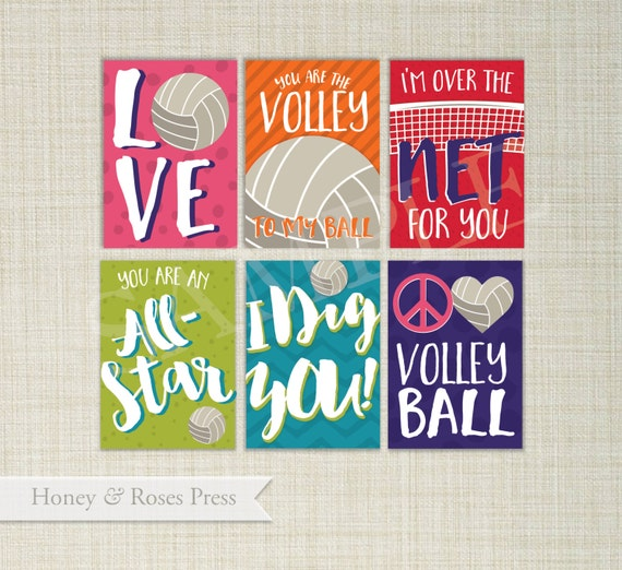Volleyball Valentines Day Cards Sports Valentines – Sports Valentines Cards