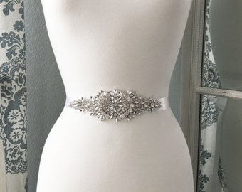 Bridal Sash, Wedding Dress Belt, Rhinestone Bridal Sash, Crystal Sash Belt, Wedding Dress Belt, Bridal Sash Belt 9789
