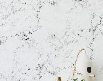 Marble wall mural in removable self adhesive and traditional wallpaper options