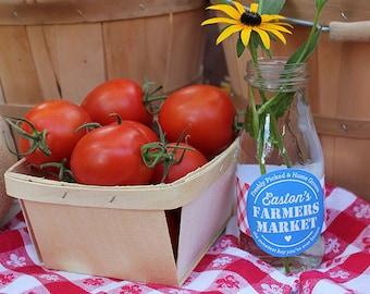 Farmers Market Birthday - Bottle Labels, Bag Labels, Personalized, Printable, Digital File, Farm Party, Farmers Market Party, Garden Party