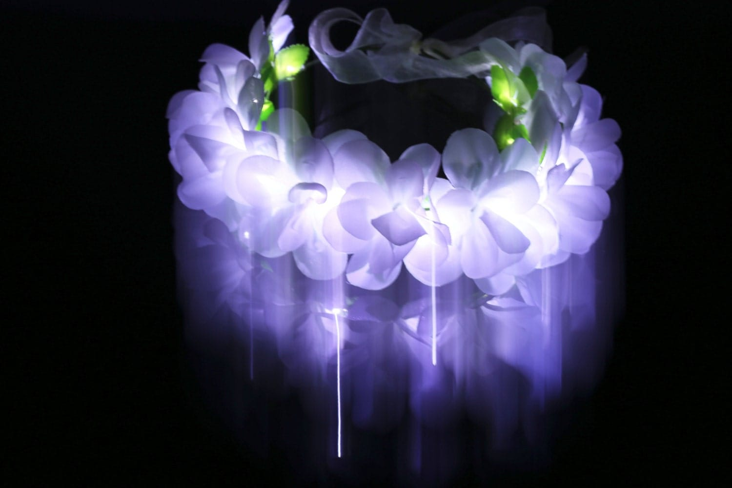 white led light up flower crown floral headbandhippie