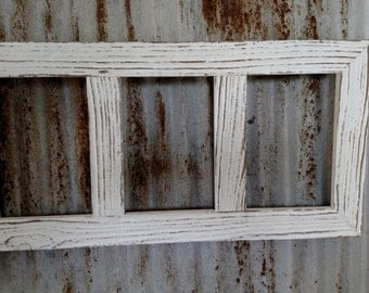 Multi Opening 5 X 7 Barn Wood Collage Picture Frames Many Colors and Options