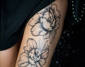 Two Flowers Temporary Tattoo by Sasha Masiuk