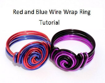 Wire wrap ring tutorial, wire ring tutorial, jewelry tutorial, ring tutorials