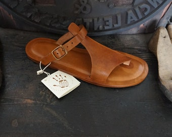 Handcrafted Sandals Women natural tanned Leather Vegetable