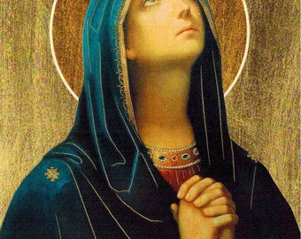 Our Lady of Sorrows POSTER 16x12 Virgin Mary print Catholic prints and posters Religious pictures Christian wall art Catholic art