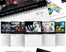 Star Wars™ Photo Calendar - LEGO® Toy Art, Christmas Gift Idea or Secret Santa Gift: Choice of 2016 Wall Calendar or ANY STARTING month!