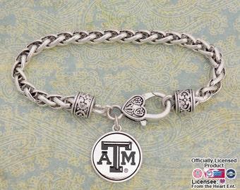 Texas A&M Aggies Medallion Clasp Bracelet