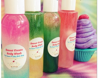 Sweet Treats Bath/Shower Body Wash-Many Yummy Scents to Choose from!!