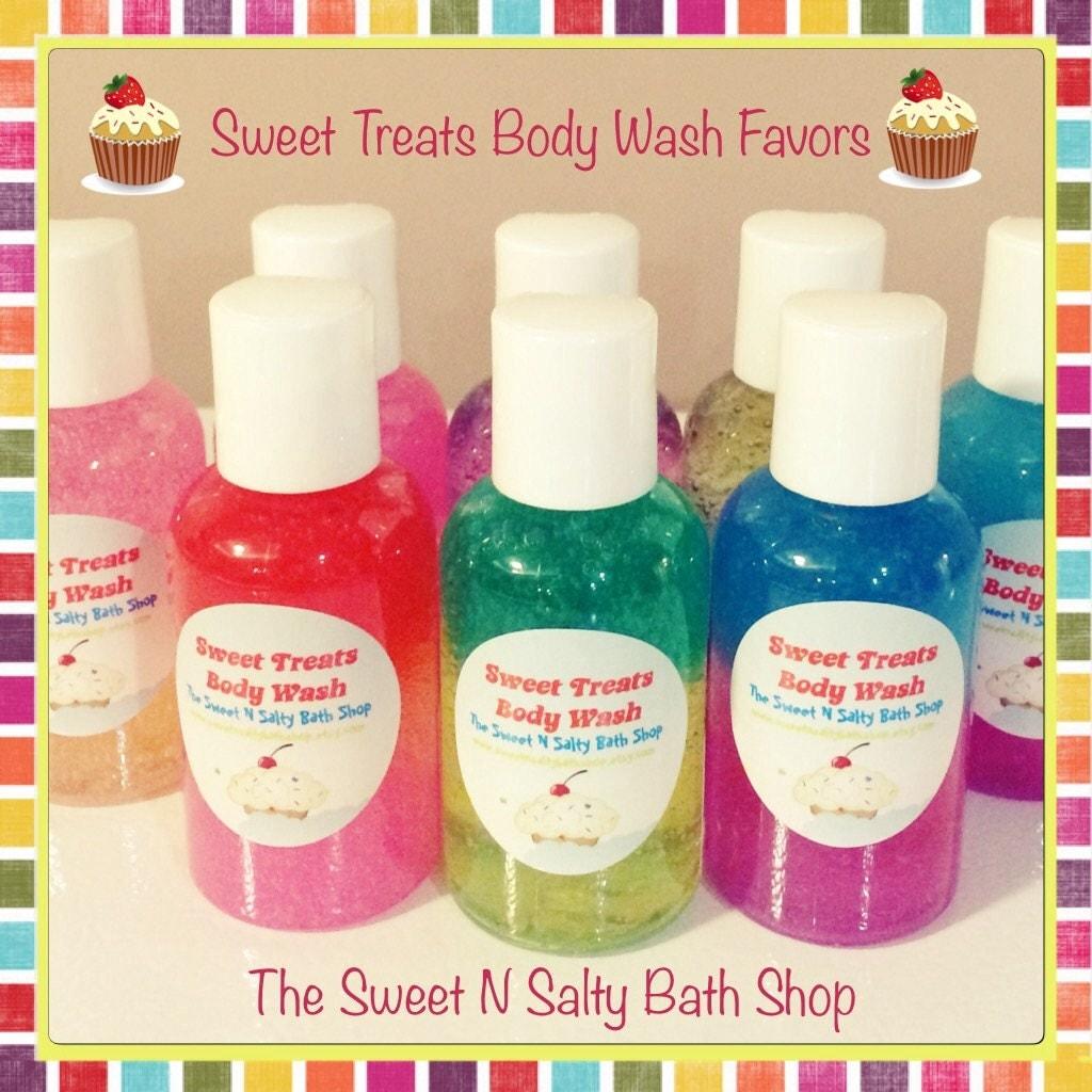 10 Sweet Treats Bath/Shower Body Wash Party Favors-Many