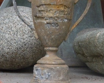 Old Cruddy Tiny Lead Cup / Trophy / Charming Vintage Trophy Relic / Pittsburgh / 1930