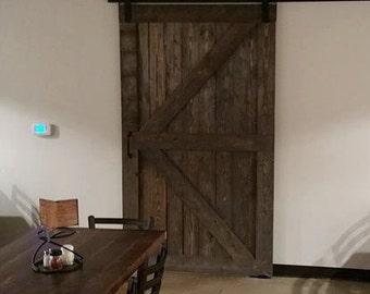 Rustic Gray Sliding Barn Door