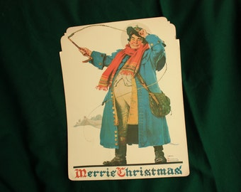 Norman Rockwell Robust Man with Whip print, Norman Rockwell poster Jolly man with whip, store display, window display,