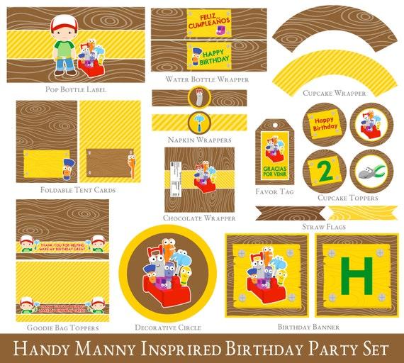 Handy Manny 2nd Birthday Printable Set Handy Manny Party – Handy Manny Party Invitations