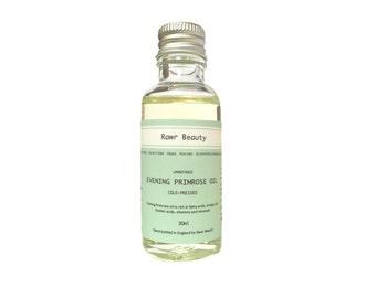 Organic Evening Primrose Oil | 100% Organic | Coldpressed Unrefined | Vegan Friendly | 30ml