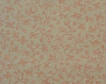 "7/8 Yard Pink & White Tiny Floral Print Cotton Fabric - 60"" wide"