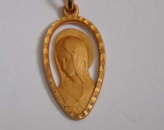 old religious Medal of the 60s in plate gold