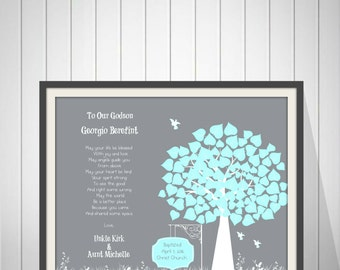 Baby Boy Baptism Gift | Godson Baptism | Keepsake Baptism | Room Nursery | Girl Baptism | Gift From Godparents | Gift From Godmother -60777