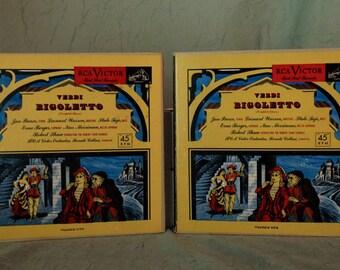 Rigoletto- Verdi - Complete Opera (Volume 1 & 2) Red Seal-- Very Rare! 1950s ( 14 x 45s, Vinyl Record ) Classical, Opera Music