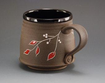 Pottery mug, mug, coffee mug, handmade ceramic mug, pottery coffee mug, coffee mug handmade, coffee cup, black mug, brown mug, tea cup