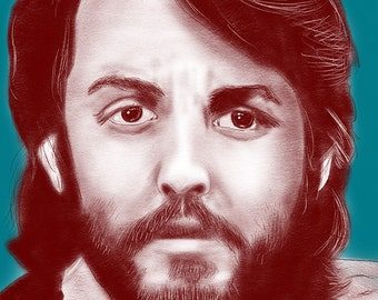 Paul McCartney 11x14 Original Art Portrait