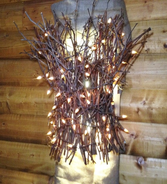 Custom Twig Sconce Wall Sconce Light Light Up Branches