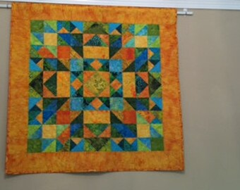Quilted Wall Hanging-Summer Heat, Art Quilt