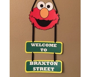 Elmo Door Sign - Elmo Birthday Party Decorations - Elmo Party Supplies