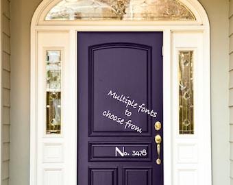 Door vinyl, house number, address, Vinyl, vinyl decal, vinyl decal, front door, door decor, door number decal, number decal,