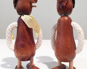 Vintage Wood Figural Andy Capp Man Corkscrew & Bottle Opener