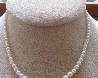 Pearls - graduated - with safety clasp, Vintage
