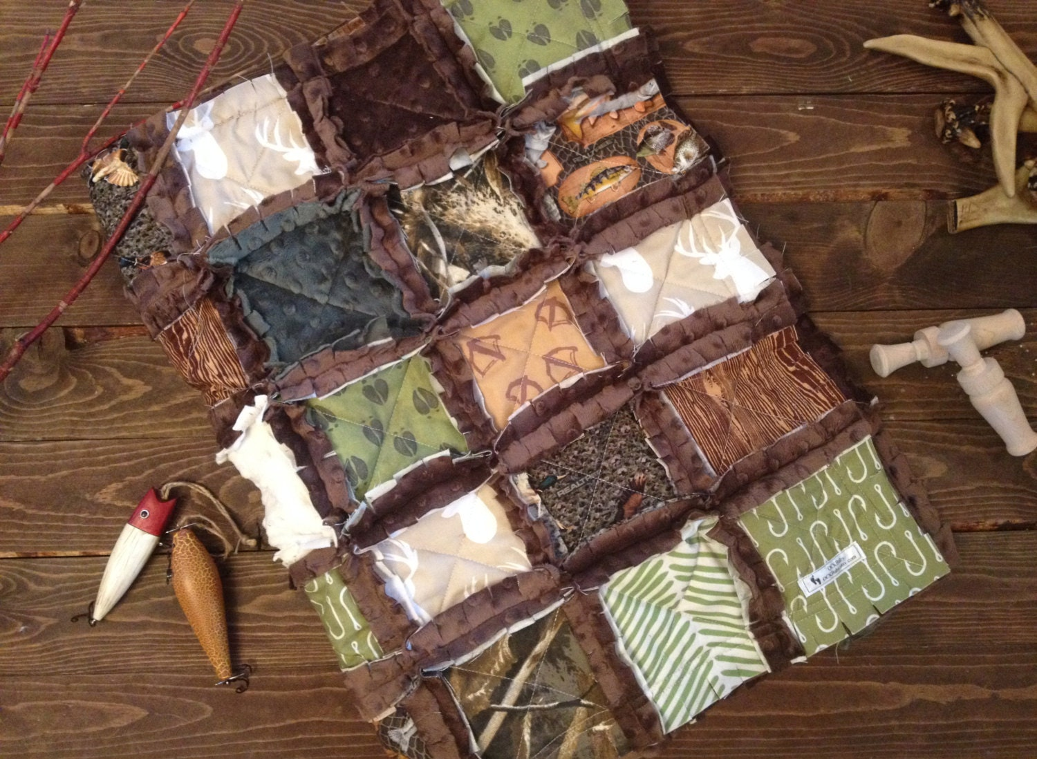 Ultimate Hunter Baby Rag Quilt Exclusively From Ockbaby